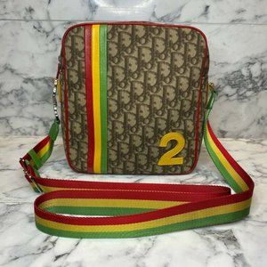 DIOR 2004 Rasta Galliano Diorissimo Messenger Bag
